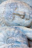 Closup Head Reclining Buddha Statue Polonnaruwa V