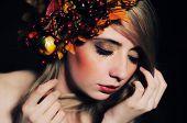 Autumn lady portrait