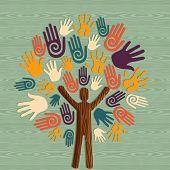 Diversity Human Tree Hands