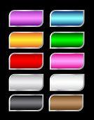 Set of colorful asymmetric button Vector