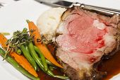Prime Rib With Vegetables And Potatoes