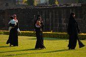 Asar Mahal Ruins Park Muslim Family Bijapur