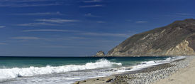 picture of twisty  - Twisty California Pacific Coast Highway One at Point Mugu in Ventura County - JPG