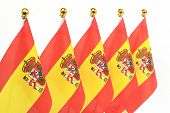 Flags Of  Spain,isolated On The White Background