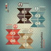 Vintage Template Infographics In The Form Triangles