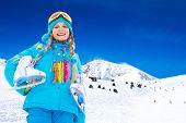 Happy Girl With Ice-skates