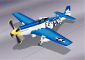 Detailed Vector Illustration of P-51 Mustang 'Easy 2 Sugar'