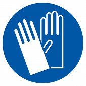 Wear Gloves - Safety Sign