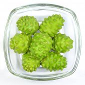 Noni Indian Mulberry fruit.