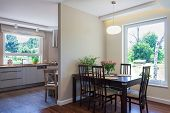 Bright Space - Dining Room And Kitchen