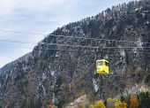 picture of ropeway  - Traditional Austrian ropeway over autumnal Alpine mountain
