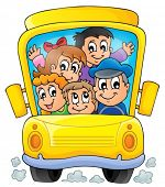 Image with school bus theme 1 - eps10 vector illustration.