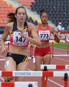 DONETSK, UKRAINE - JULY 11: S. Gonzalez, USA (right) and N. De Coninck, Belgium compete in semi-fina