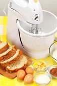 mixer machine and bread