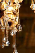 Detalhes de abajur cristal vintage