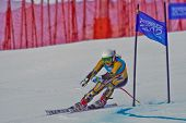 PATSCHERKOFEL, AUSTRIA - JANUARY 15 Greta Small (Australia) places 11th in the Super-G of the Ladies