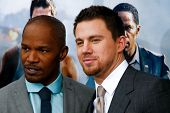 NEW YORK-JUNE 25: Actors Jamie Foxx and Channing Tatum (R) attend the premiere of