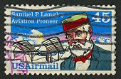 USA - CIRCA 1991: A stamp printed in USA shows image of the Samuel Pierpont Langley was an American