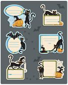 6 Cat Halloween Labels