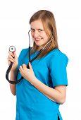 Flirtatious Young Doctor