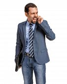 stock photo of nervous breakdown  - nervous breakdowns in business negotiations  - JPG