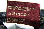 Washing Information For Jeans