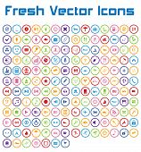 Fresh Vector Icons (circle Version)
