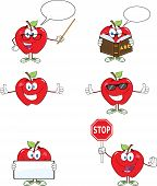 Red Apples Cartoon Mascot Characters 1