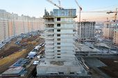 MOSCOW - NOVEMBER 23: Buildings under construction in complex Tsaritsino, on November 23, 2012 in Mo