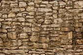 stock photo of fieldstone-wall  - A large section of hand - JPG