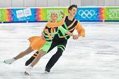 INNSBRUCK, AUSTRIA - JANUARY 17 Victoria-Laura Lohmus and Andrei Davodov (Estonia) place 12th in the