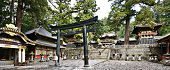 NIKKO, JAPAN - NOVEMBER 11: Tourists at Toshogu shrine November 11, 2012 in Nikko, JP. The shrine holds the mausoleum of Tokugawa Ieyasu, founder of the Tokugawa shogunate which ruled until 1868.