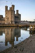 Caernarvon Castle, Wales - June 18: 13Th Century Caernarvon Castle In Wales On June 18Th, 2013 Is On