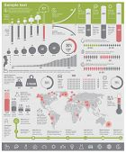 stock photo of environmental pollution  - Vector environmental problems infographic elements - JPG