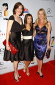 Brenda Strong with Eva Longoria and Nicollette Sheridan at the PADRES Contra El Cancer 7th Annual Fund Raising Gala. The Lot, West Hollywood, CA. 10-18-07