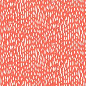 picture of 1950s  - Small ditsy pattern with short hand drawn strokes in coral red color - JPG