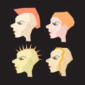 Women Punk Head Illustration