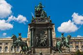 Monument Of The Famous Monarch Maria Theresia Of Habsburg(vienna, Austria)