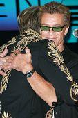 David Lee Roth and Eddie Van Halen at the Van Halen Reunion Tour Press Conference. Four Seasons Hotel, Los Angeles, CA. 08-13-07