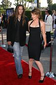 Dedee Pfeiffer and friend at the Los Angeles Premiere of
