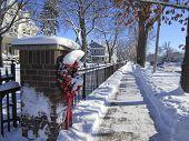 Small Town Neighborhood Street in Winter