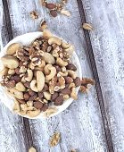 Mixed Nuts - Hazelnuts, Walnuts, Almonds, Cashews, Brazil Nuts And Pecan Nuts