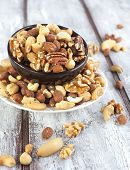 picture of brazil nut  - Nuts Word From Different Nuts - JPG