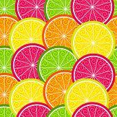 Seamless Citrus Colorful Pattern