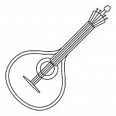 Musical instrument mandolin contour