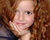 stock photo of red hair  - shany closeup - JPG