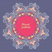 stock photo of decoupage  - Ornamental floral lace pattern - JPG