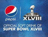 Pepsi Official Soft Drink of Super Bowl XLVIII billboard on Broadway during Super Bowl XLVIII week
