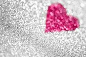 Glitter Heart Background