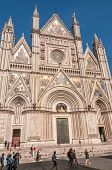 Facade Of The Cathedral In Orvieto